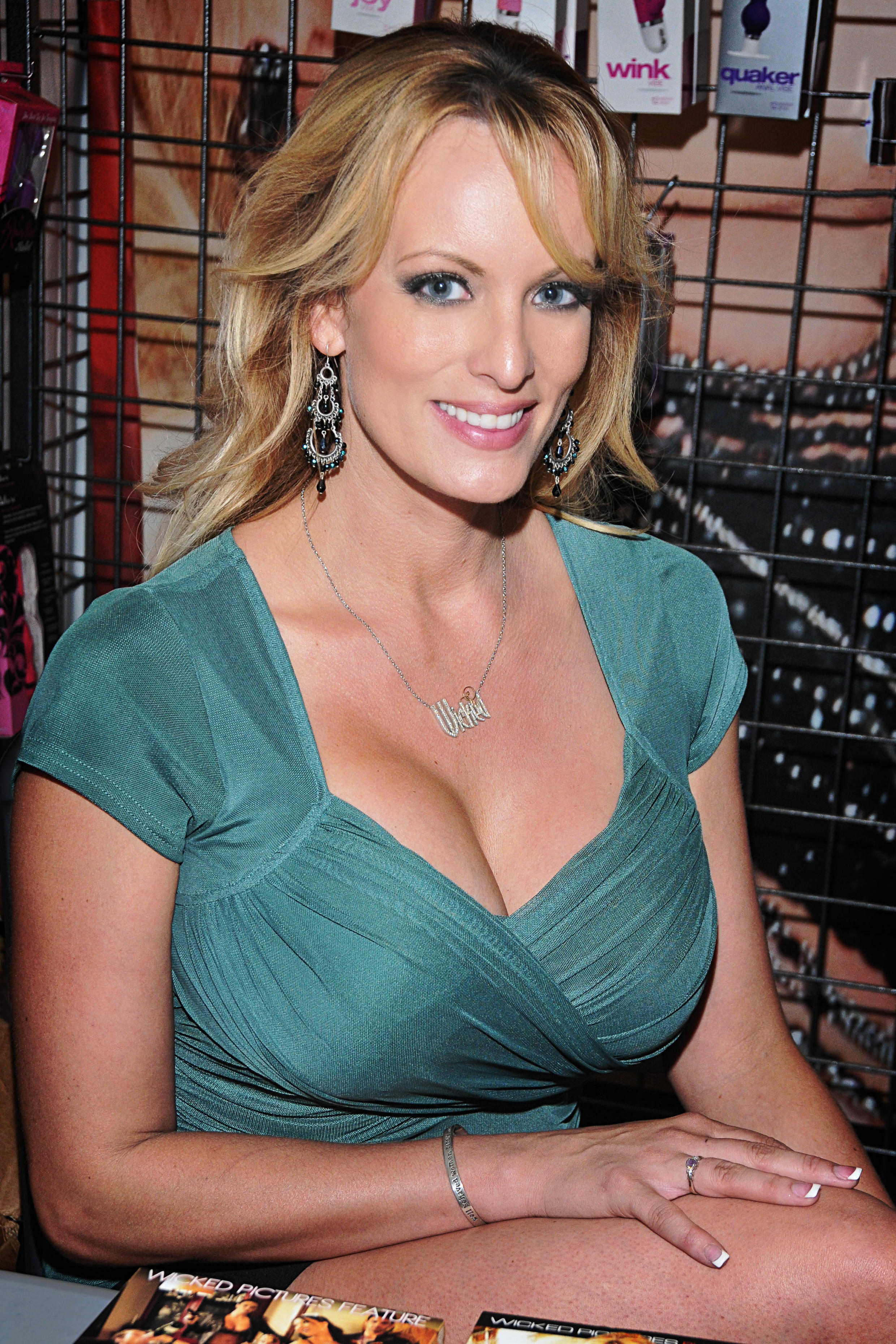 A atriz, cujo nome real é Stephanie Clifford mas é conhecida na indústria pornográfica como Stormy Daniels.