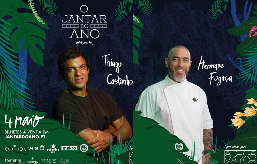 Os chefs brasileiros Thiago Castanho (esquerda) e Henrique Fogaça.