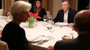 La directrice générale du FMI Christine Lagarde et le président argentin Mauricio Macri, le 21 juillet 2018 à Buenos Aires.