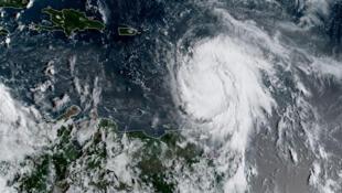 Image satellite de l'ouragan Maria, le 18 septembre 2017.