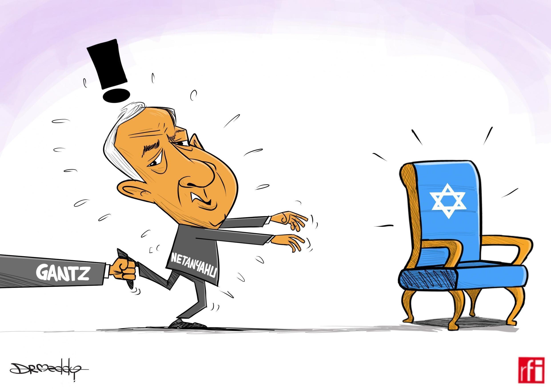 Kibonzo hiki kinaonesha hali ya sintofahamu ya kisiasa nchini Israel baada ya Waziri Mkuu Benjamin Netanyahu kushindwa kupata idadi ya wabunge inayohitajika kuunda serikali ( 20 /9/2019)