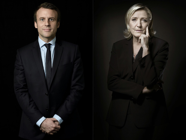 Emmanuel Macron na Le Pen, Aprili 23, 2017.