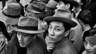 Tournage du film «Liao Kai», de Tang Xiao Dan, qui se déroule dans les années 1920. Shanghai, 1982.