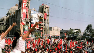 Celebración en la plaza Gerardo Barrios.