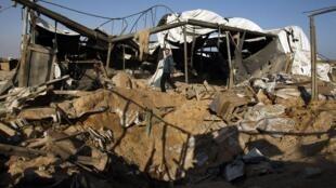 Daños causados por los ataques aéreos israelíes en la Franja de Gaza