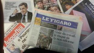 Primeiras páginas dos jornais franceses de 09 de março de 2016
