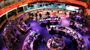 Redação da Al Jazeera em Doha, no Catar
