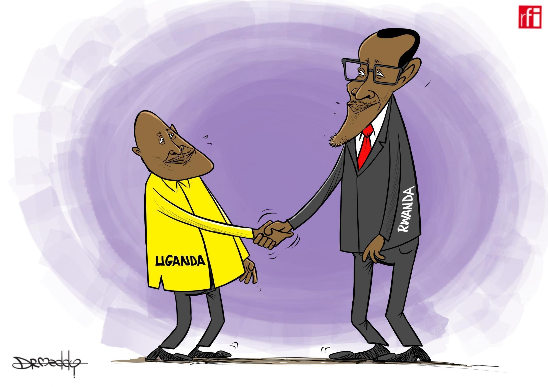 Rwanda/Uganda : Marais Paul Kagame na Yoweri Museveni, baada ya kutia saini mkataba wa maelewano nchini Angola 21/08/2019