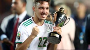 Ismaël Bennacer, champion d'Afrique 2019 avec l'Algérie et meilleur joueur de la CAN.