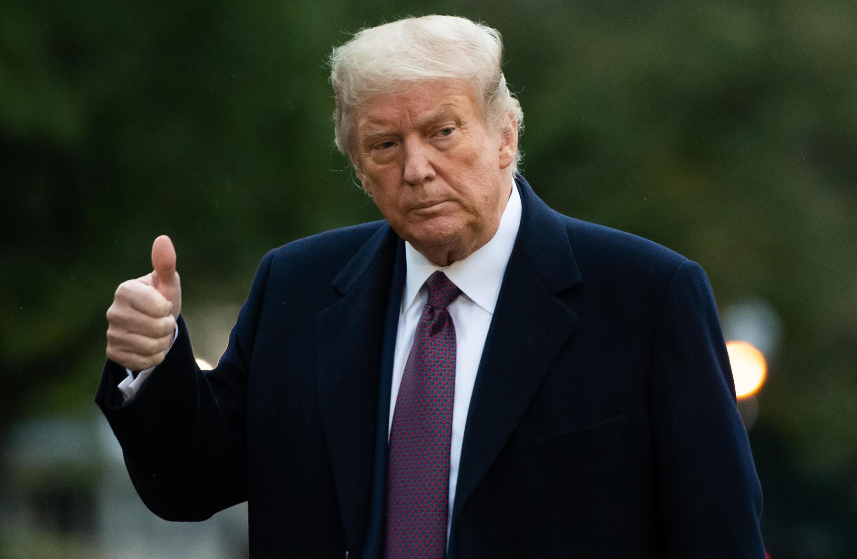 El presidente de EEUU, Donald Trump, el 1 de octubre en la Casa Blanca (Washington)