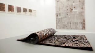 Obra do artista capixaba Sami Hilal, que está exposta na galeria MDM