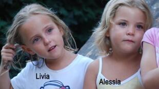As irmãs Alessia e Livia, de 6 anos, desapareceram no dia 30 de janeiro.