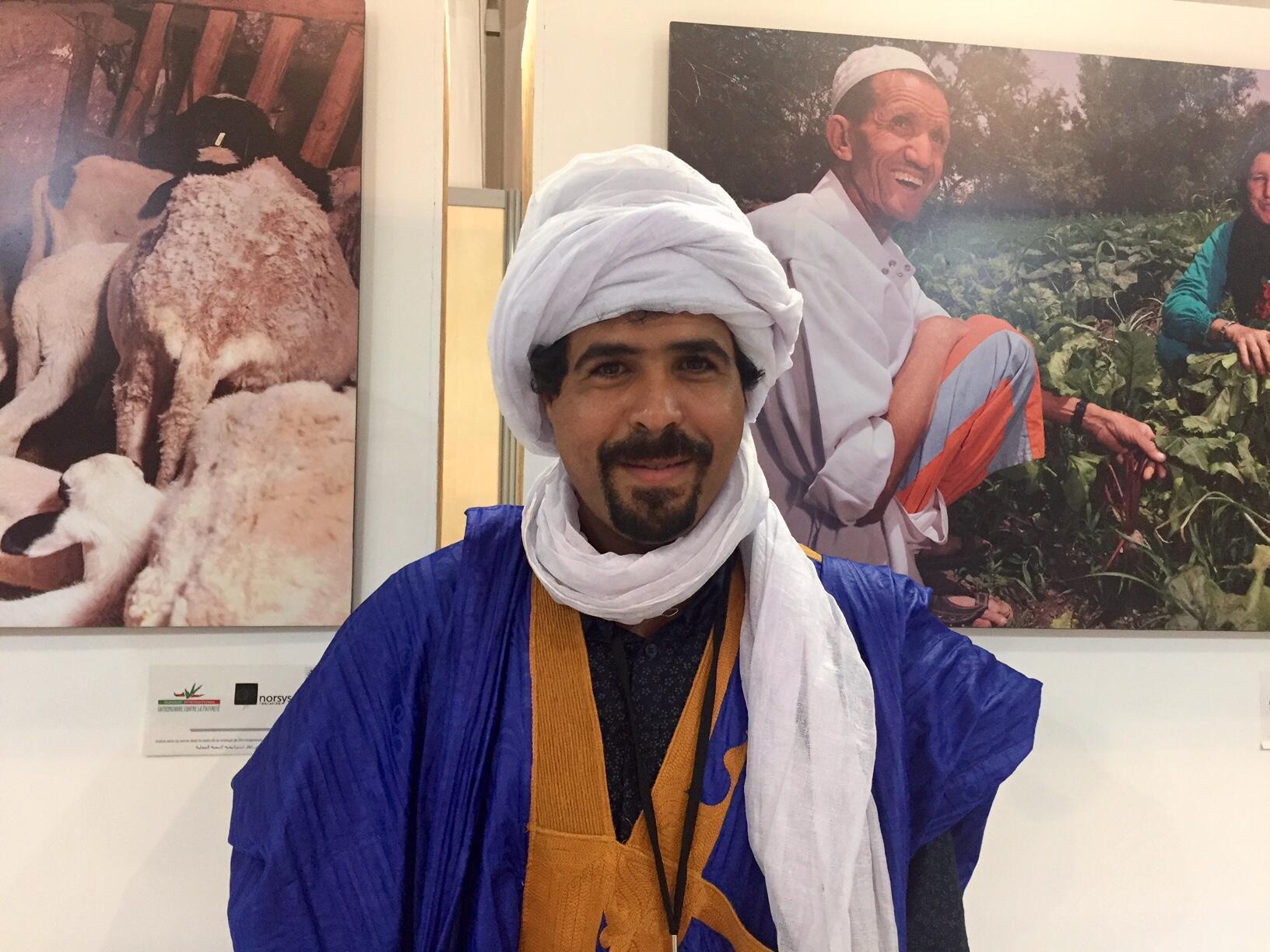Ibrahim Sbaï est inquiet pour l'avenir des oasis marocaines mais des solutions existent.