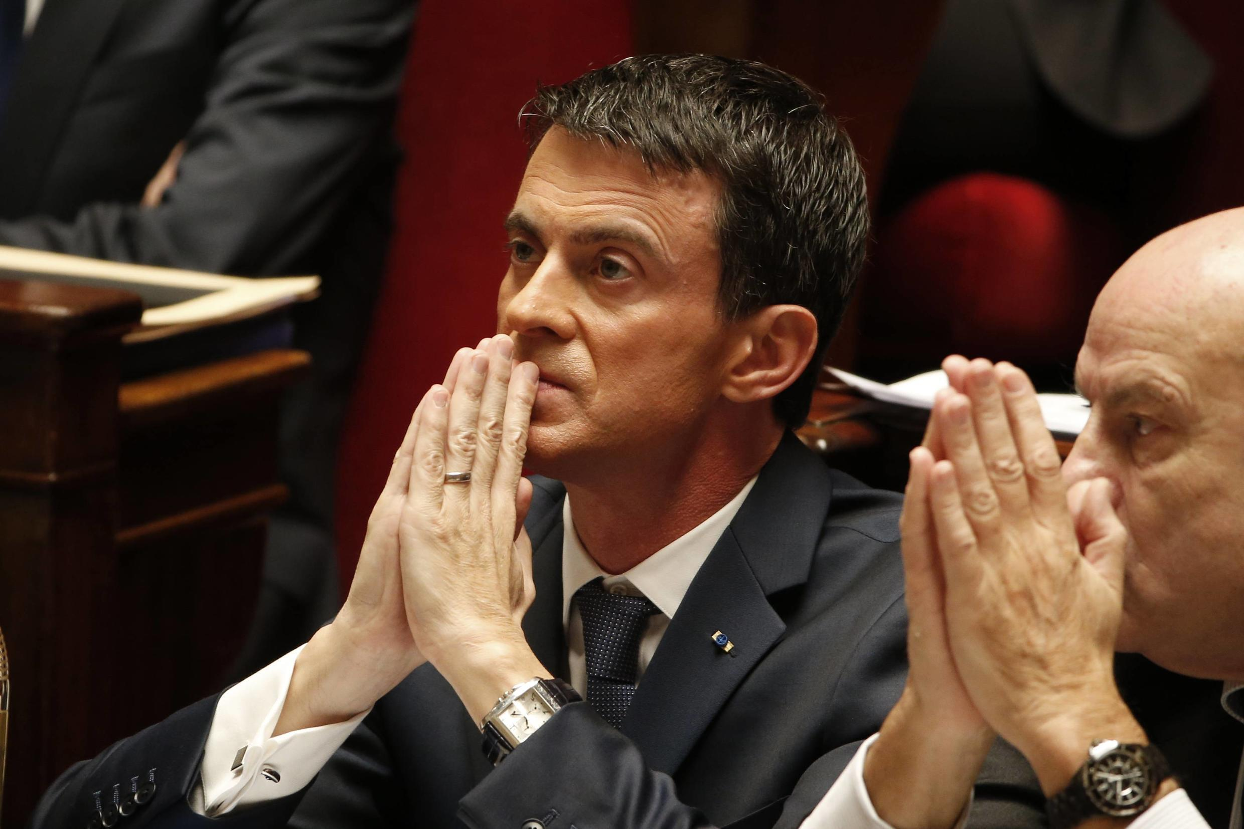 French Prime Minister Manuel Valls at the National Assembly in Paris, 19 November 2015.