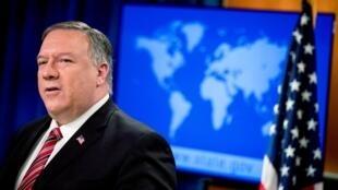 Le secrétaire d'État américain Mike Pompeo à Washington, le 29 avril 2020 (Image d'illustration).