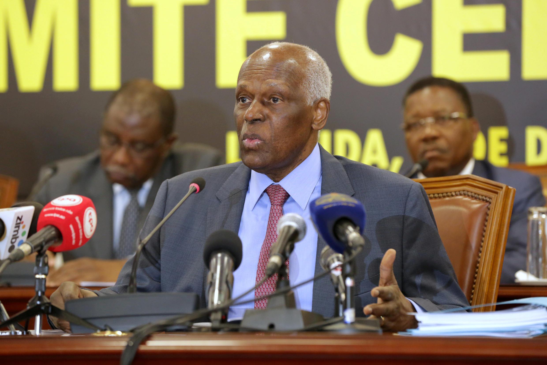 José Eduardo dos Santos durante evento em Luanda, em dezembro de 2016