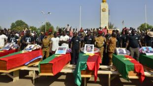Six personnes ont été inhumées ce mardi 2 décembre à Ouagadougou lors de la cérémonie d'hommage aux victimes de l'insurrection populaire.