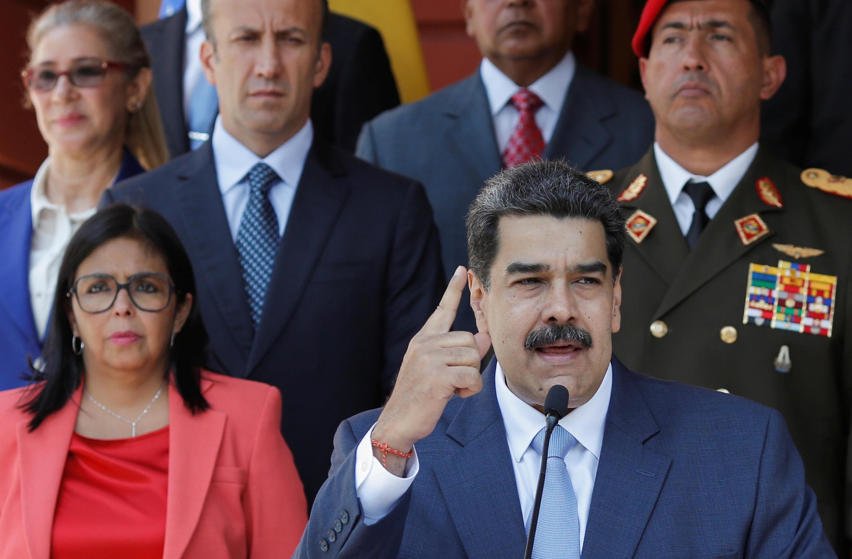 Le président vénézuélien Nicolas Maduro au Palais Miraflores à Caracas le 12 mars 2020.
