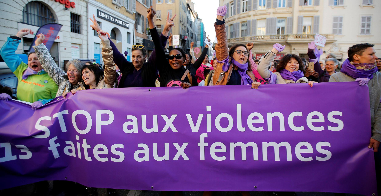 Манифестация против насилия над женщинами, Марсель, 24 ноября 2018.