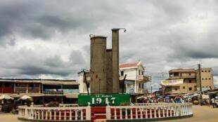 La place du 29-Mars 1947 à Moramanga, la ville où a débuté l'insurrection.