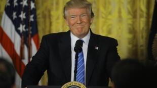 Donald Trump en la Casa Blanca, el pasado 23 de junio de 2017.
