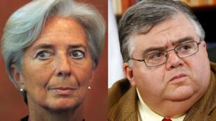 Christine Lagarde, Ministra de Economía francesa y Agustin Carstens, director del Banco Central Mexicano