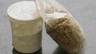 Des pilules de captagon saisies par les Forces de sécurité intérieure (FSI) du Liban, en juin 2010.