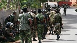 Des élèments de l'armée malgache.