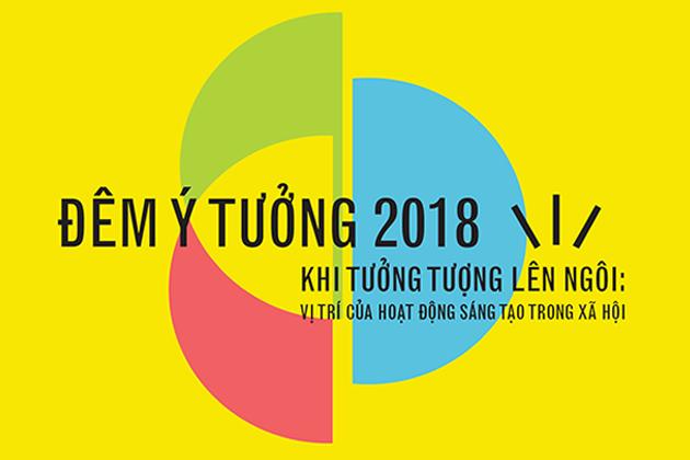 Áp-phich Đêm Ý tưởng 2018 (La Nuit des Idées) do Viện Pháp tại Hà Nội tổ chức.