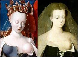 A vaidosa e influente Agnès Sorel, que assistiu ao entronamento de Charles VII por ninguém menos que Joana D'Arc.