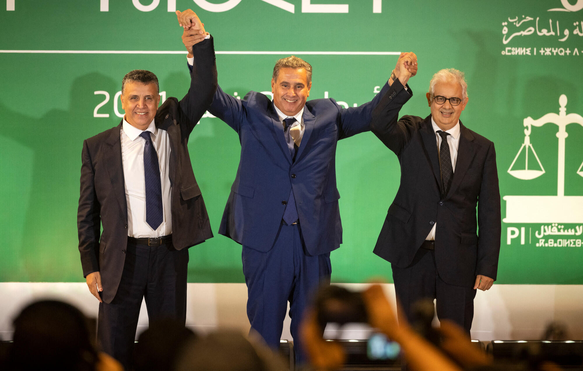 Maroc coalition  Aziz Akhannouch Abdellatif Ouahbi Nizar Baraka