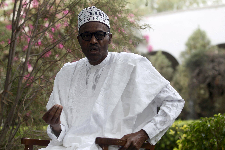 Muhammadu Buhari, candidat du All Progressives Congresses, le 28 mars 2015 à Daura.