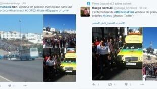 De nombreux internautes se sont émus du décès tragique de Mouhcine Fikri sur les réseaux sociaux.