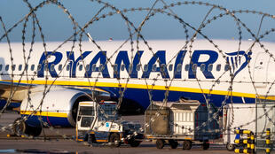 A Ryanair aircraft is parked on the tarmac during a wider European strike at the airline to protest slow progress in negotiating a collective labour agreement, at Brussels South Charleroi Airport, Belgium August 10, 2018.