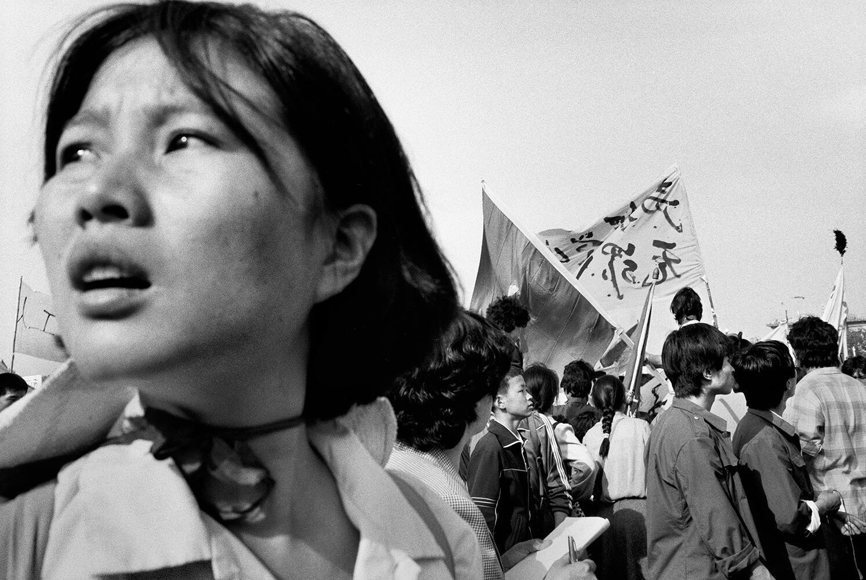 Place Tiananmen. Pékin, mai 1989.