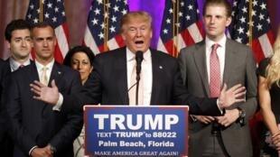 參與美國共和黨總統初選的特朗普