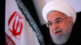 資料圖片:伊朗總統魯哈尼。2018年9月26日攝於紐約聯合國大會邊會。