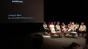 """Discussão de """"Viajantes Solitários"""" de Joana Craveiro no Forum Nouvelles Écritures Européenes, em Avignon"""