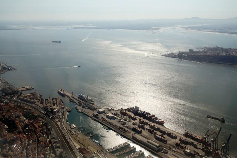 L'épave de la caravelle a été découverte à l'embouchure du Tage, à Lisbonne (notre photo).