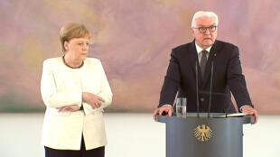 Angela Merkel sufrió una nueva crisis de temblores este 27 de junio, en una ceremonia junto con el presidente Frank-Walter Steinmeier en Berlín.