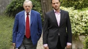 Jerome Kerviel  with his lawyer Olivier Metzner