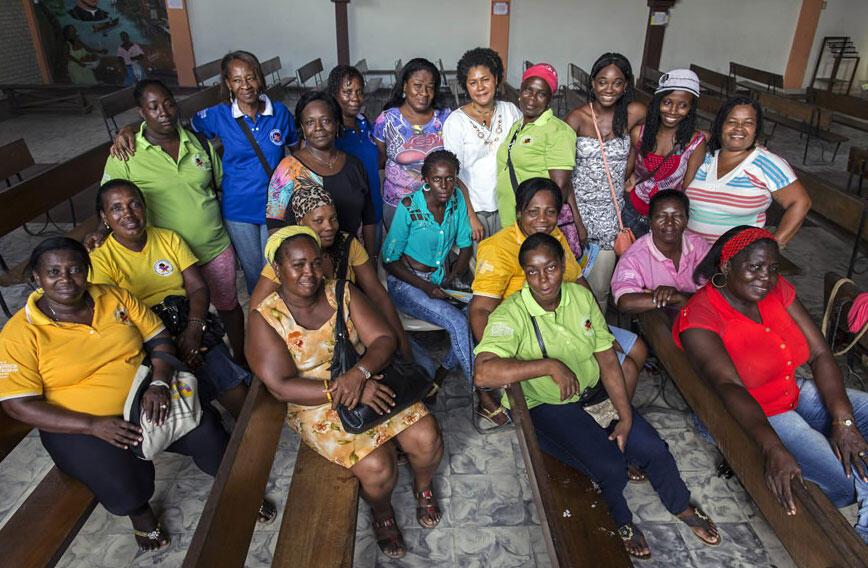 As coordenadoras da organização colombiana Rede Borboletas, que trabalham com mulheres vítimas do conflito armado.