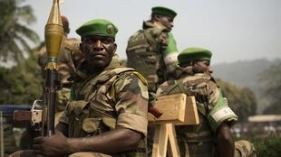 Soldier of the African force, Misca, in Bangui