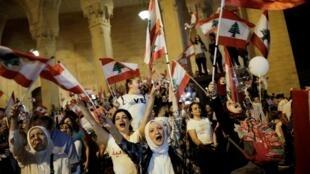 Des Libanais sur la place des Martyrs à Beyrouth le 10 novembre dernier manifestaient contre le pouvoir en place.