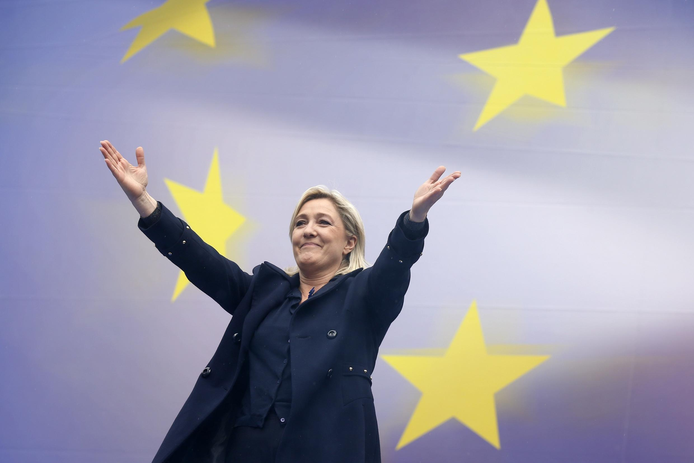 A presidente do partido francês Frente Nacional, Marine Le Pen.