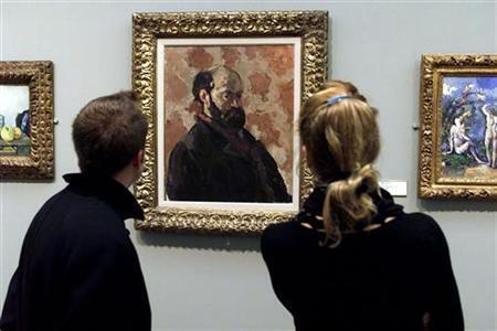 Bức chân dung tự vẽ của Cézanne tại bảo tàng Orsay.