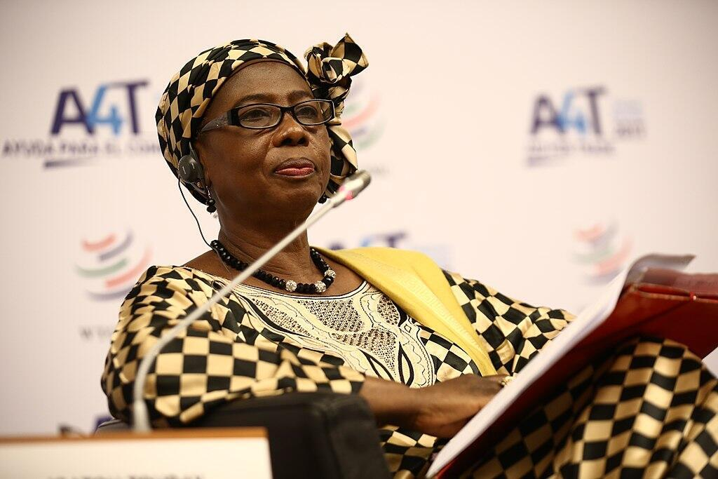File photo of Gambian Vice President Isatou Touray, who tested positive for Covid-19.