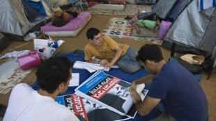 Protestos israelenses começaram em meados de julho com acampamentos na principal avenida de Tel-Aviv.
