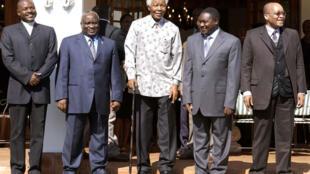 Ayarin shugabannin  jamiyyar ANC ta  Africa ta kudu   lokacin da marigayi Nelson Mandela ke raye