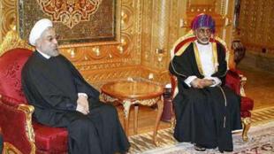 حسن روحانی، رئیس جمهوری اسلامی با سلطان قابوس، پادشاه عمان دیدار کرد